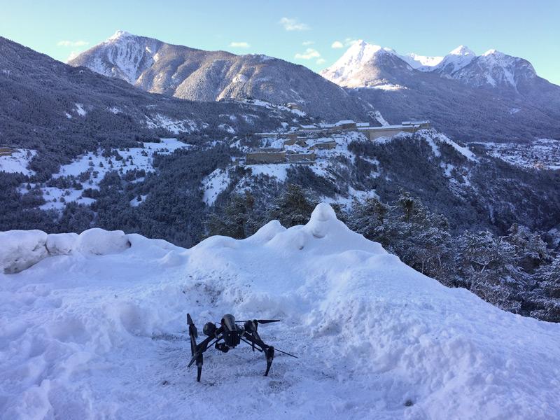 DJI Inspire 2 neige