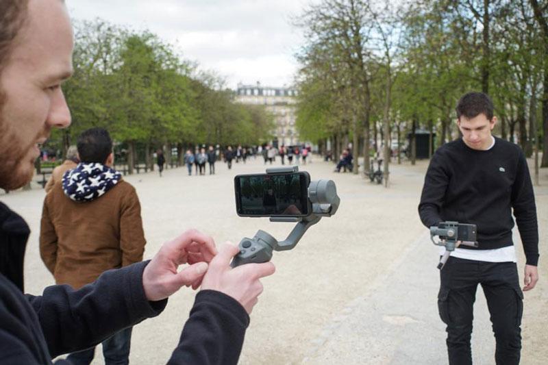 Test de deux DJI Osmo Mobile 2 dans les jardins du Luxembourg