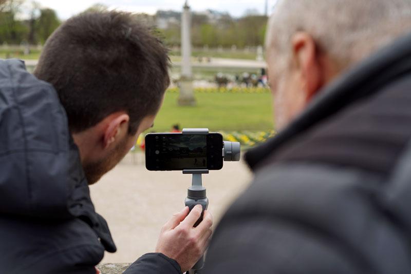 Test du DJI Osmo Mobile 2 en trépied dans les jardins du Luxembourg