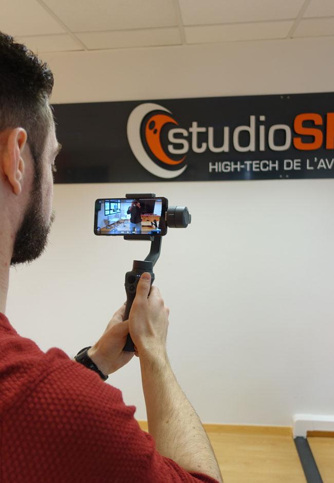 Test du DJI Osmo Mobile 2 chez studioSPORT