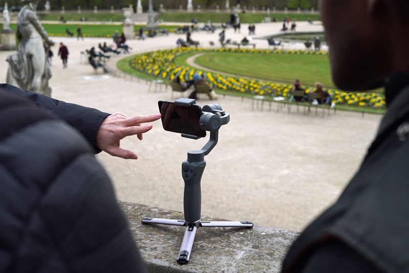 Test du DJI Osmo Mobile 2 en mode trépied