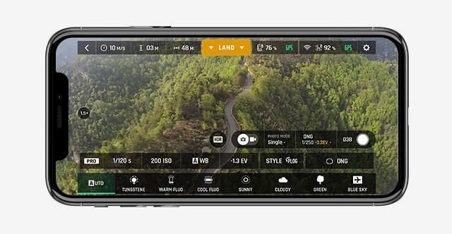 Application FreeFlight 6 menu pro