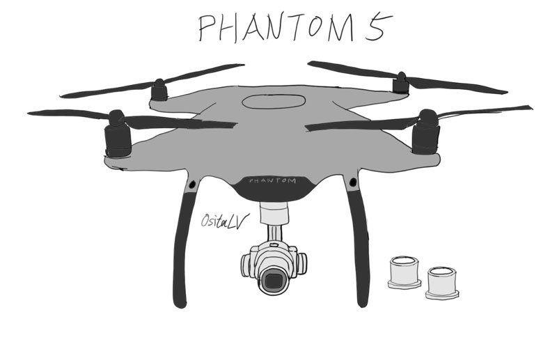 schéma Phantom 5 DJI OsitaLV