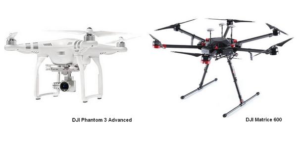 DJI Phantom 3 Pro & DJI Matrice 600