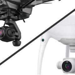 Comparatif de la caméra C23 et de celle du Phantom 4 Pro Plus.
