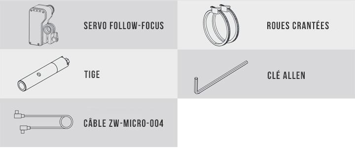 Follow Focus pour le stabilisateur Zhiyun Crane 2