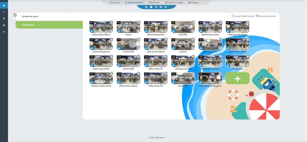 Capture d'écran du logiciel Panoskin