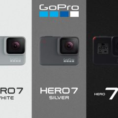 GoPro Hero7 comparatif des trois versions White, Silver & Black