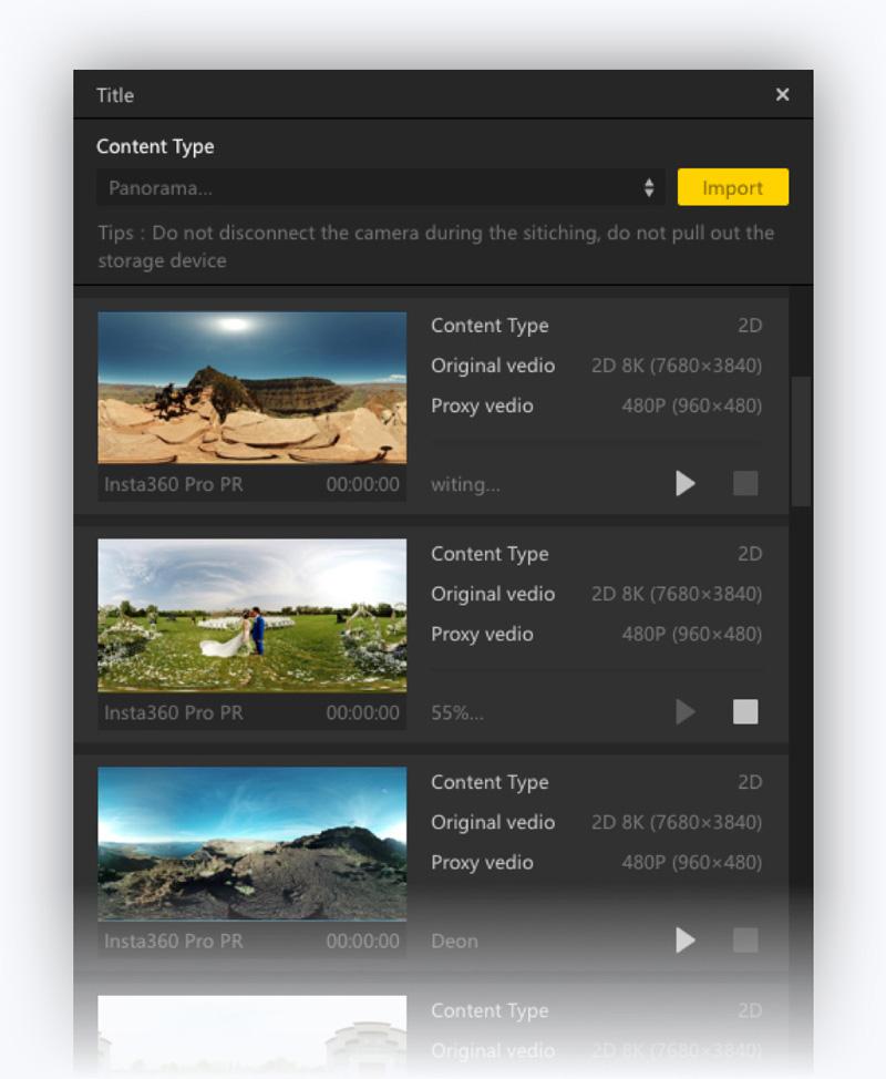 Insta360 EVO avec Adobe Premiere Pro