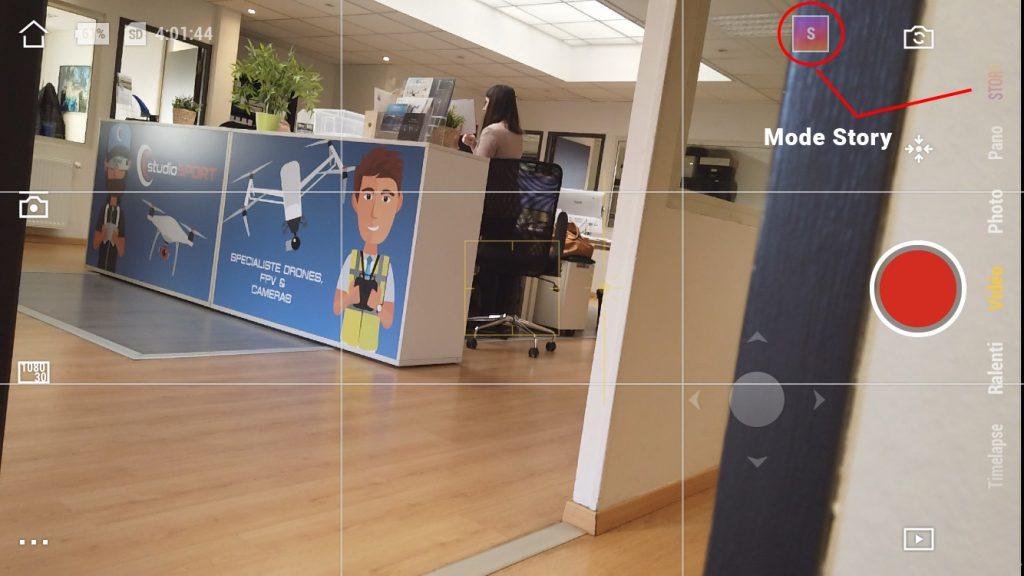 Capture d'écran de l'application DJI Mimo