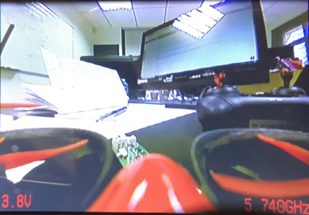 Aperçue du retour vidéo dans le masque FPV