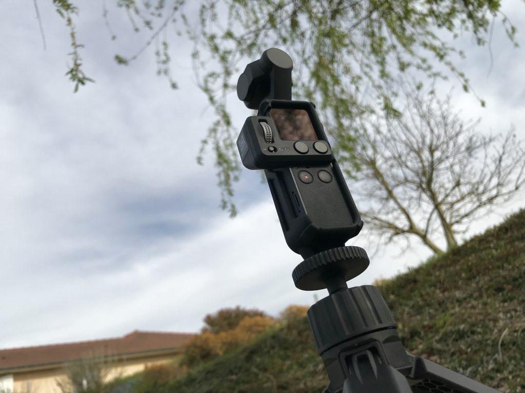Osmo Pocket sur le trépied PolarPro