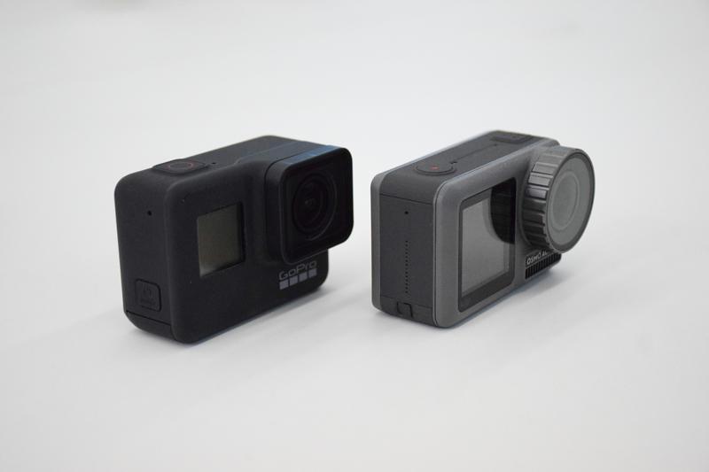 GoPro et Osmo Action de côté