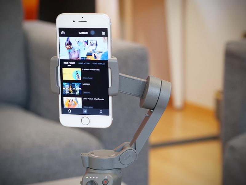 Utilisation du DJI Osmo Mobile 3