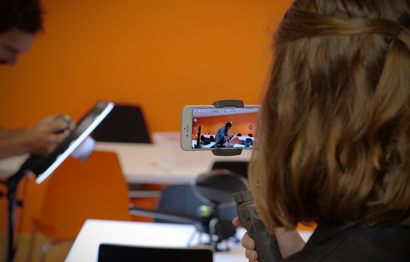 Test en cours du DJI Osmo Mobile 3