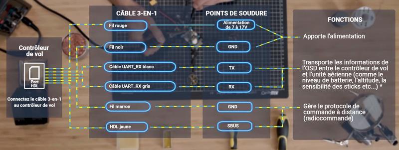 Charte de connexion du DJI FPV
