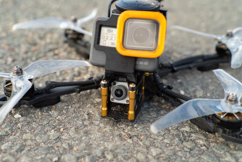 Système DJI FPV sur drone racer