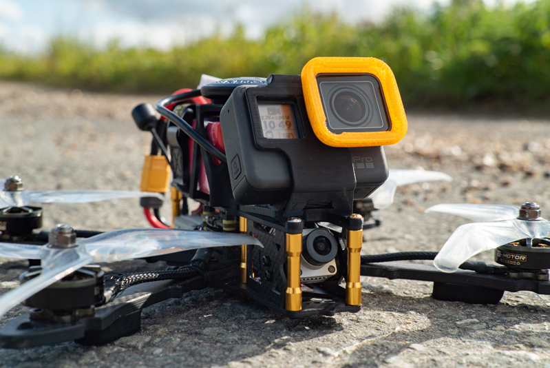 Caméra DJI FPV et GoPro sur drone Corsair