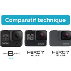 GoPro Hero8 Black, Hero7 Black, Hero7 Silver : Comparatif des caractéristiques