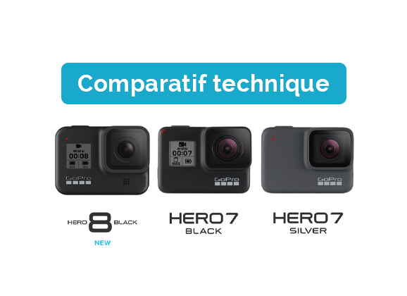 Comparatif GoPro Hero8 Black et Hero7 Black