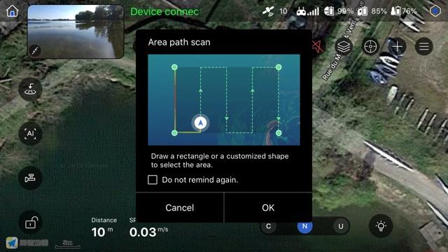 Fonction quadrillage cartographique du PowerDolphin
