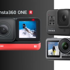 Insta360 One R 4K comparatif face à la DJI Osmo Action et GoPro Hero8 Black