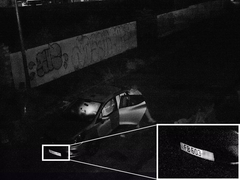 Piège photographique plaque immatriculation voiture