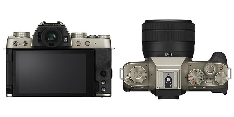 Vue dessus Fujifilm X-T200
