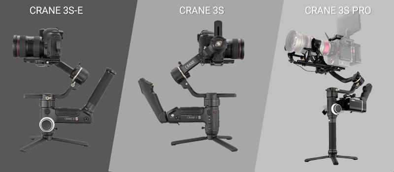 Crane 3S-E, Crane 3S et Crane 3S Pro