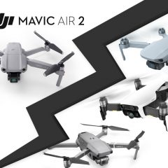 DJI Mavic Air 2 face aux DJI Mavic Mini, Mavic Air et Mavic 2 : comparatif technique