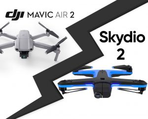 comparatif DJI Mavic Air 2 et Skydio 2