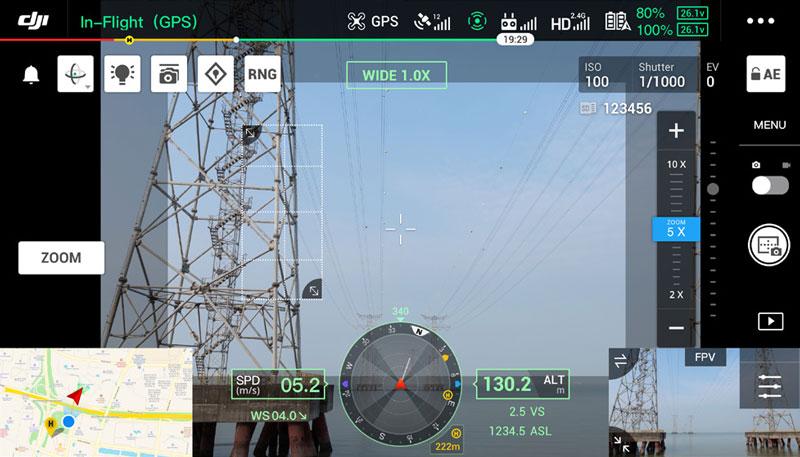 DJI Matrice 300 RTK grille haute résolution