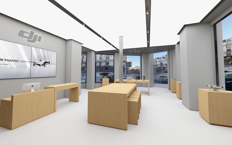 DJI Store Lyon plan 3D