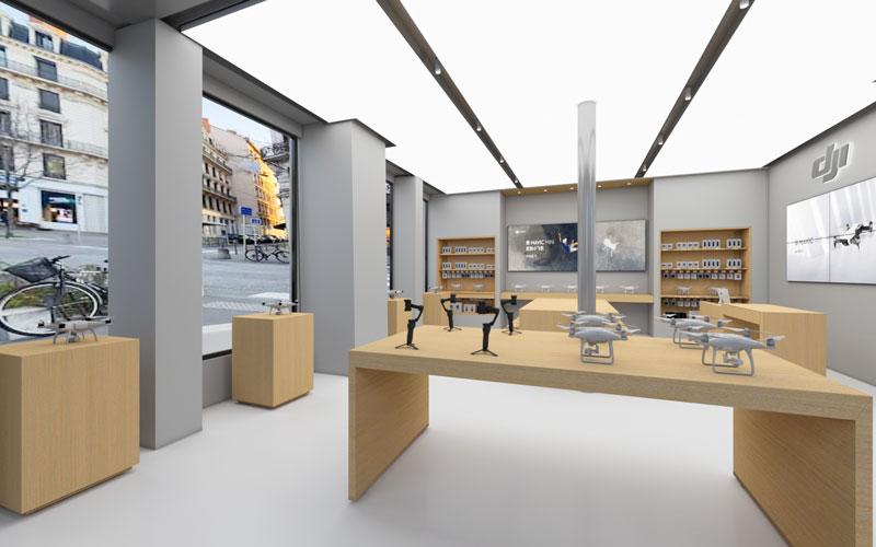DJI Store Lyon showroom
