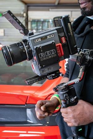 Stabilisation DJI RS 2 et caméra RED