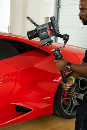 Utilisation DJI RS 2 et caméra RED