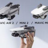DJI Mini 2 face au DJI Mavic Mini et Mavic Air 2