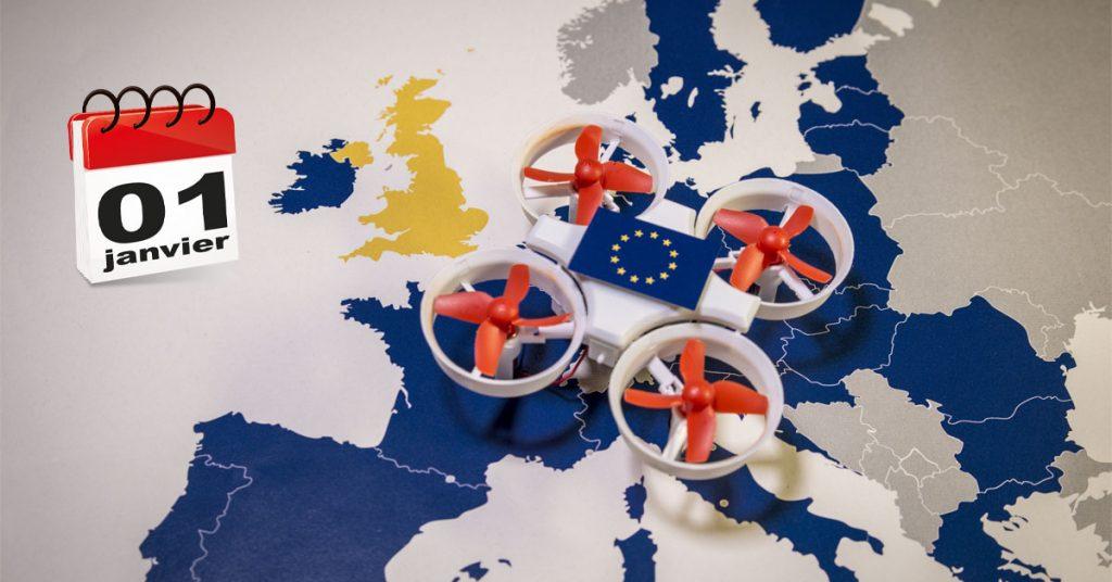 La législation drone européenne à partir du 1er janvier en détails