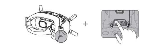 Appairage DJI FPV Combo - casque