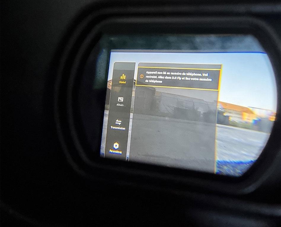 DJI FPV Combo appareil non lié au numéro de téléphone vol restreint à 50m