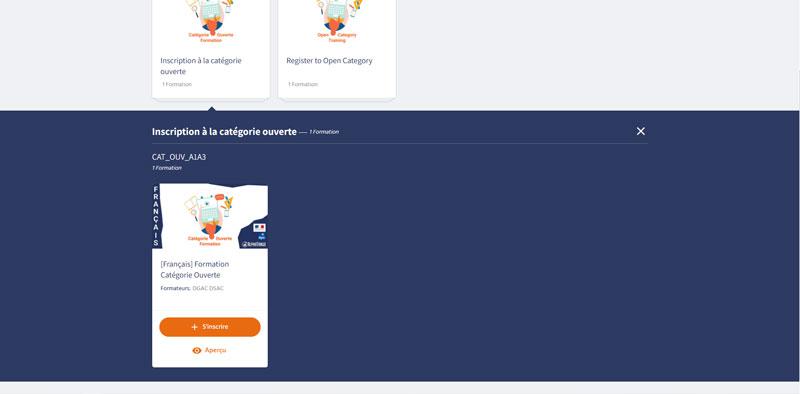 formation catégorie ouverte en ligne