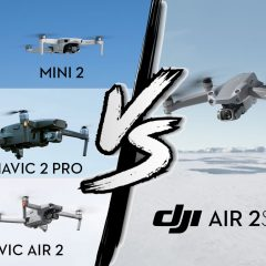 Comparatif technique DJI Air 2S, DJI Mavic Air 2, DJI Mavic 2 Pro et DJI Mini 2