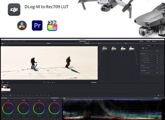 LUT DJI DLog-M vers Rec709 pour DJI Mavic 2 Pro et DJI Air 2S