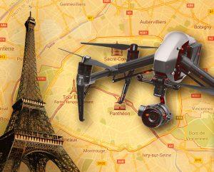 Voler en drone à Paris